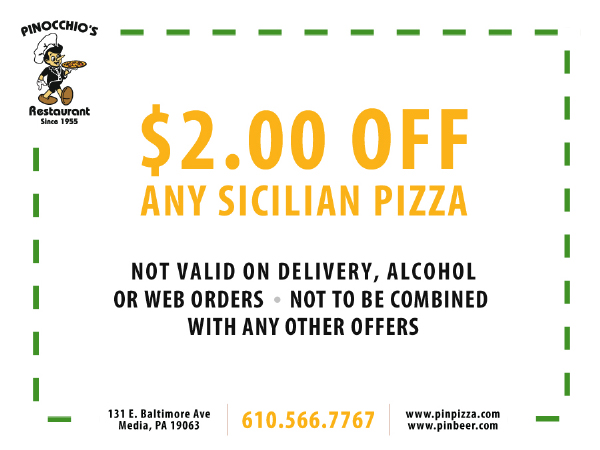 $2.00 off any Sicilian Pizza