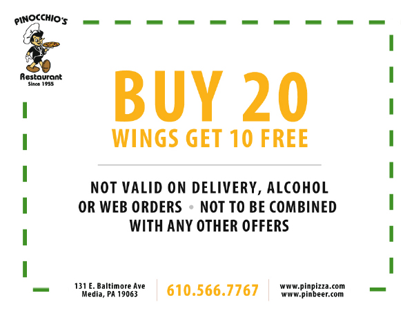Buy 20 wings get 10 free
